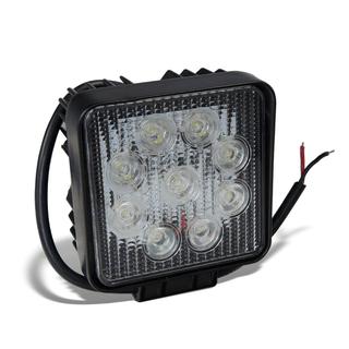 5.5 inch Square 27W Heavy Duty High Power LED Work Lights FLOOD BEAM