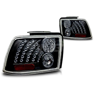 1999-2004 Ford Mustang LED Tail Light - Black/Clear