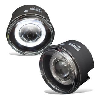 2005-2009 Dodge Dakota Halo Projector Fog Lights - (Clear)