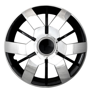 14 inch Universal Chrome and Black lacquer Wheel Cover Set of 4