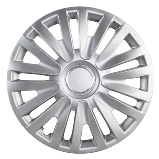 15 inch Universal Silver Wheel Cover Set of 4 3
