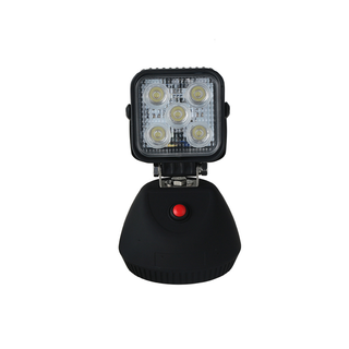 4 inch 12W Square Heavy Duty High Powered LED Work Lights SPOT BEAM With Build-in Battery And Magnetic Base