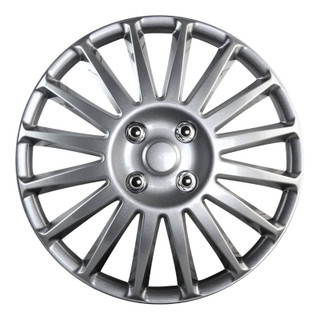 16 inch Universal Silver Lacquer Wheel Cover Set of 4