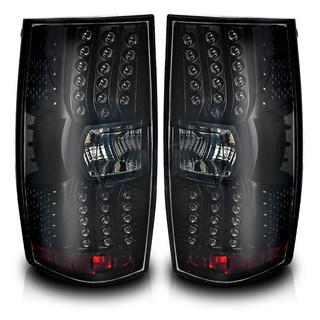 2007-2014 Chevrolet Suburban LED Tail Lights - (Black / Smoke)