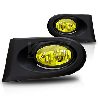 2002-2004 Acura RSX Fog Lights - Wiring Kit Included - (Yellow)
