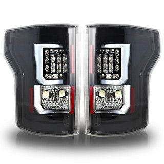 2015-2017 Ford F-150 LED Tail Lights - (Glossy Black / Clear)