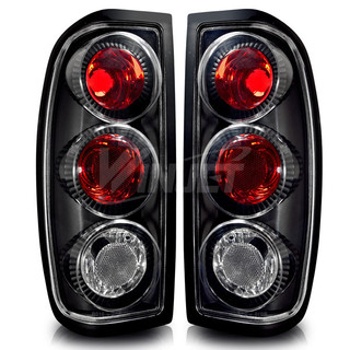 1998-2004 Nissan Frontier Altezza Tail Light - Black/Clear