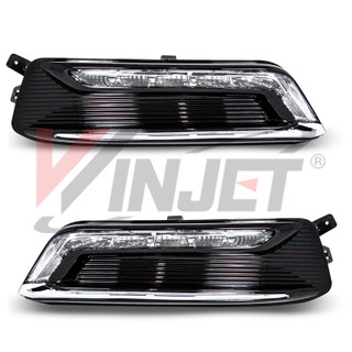 Winjet 2014-2020 Chevy Impala DRL lights - Clear (Wiring kit included)