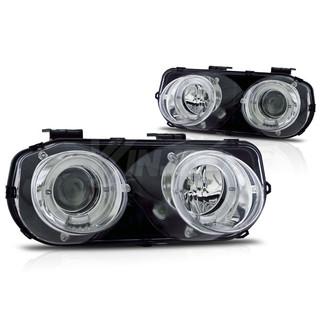 1994-1997 Acura Integra Halo Projector Head Light - Chrome / Clear