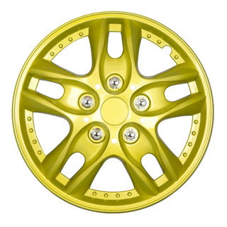 16 inch Universal Yellow Lacquer Wheel Cover Set of 4