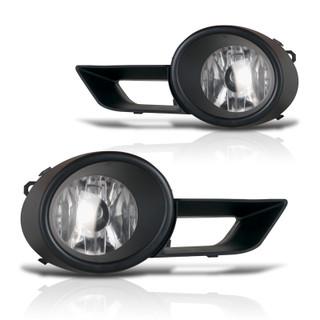 2008-2011 Toyota Highlander Fog Lights - (Clear) - (Wiring Kit Included)