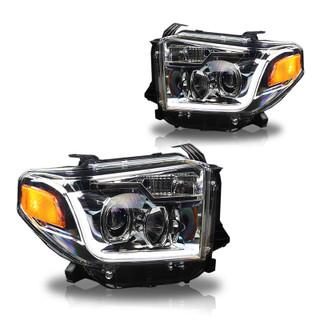 2014-2019 Toyota Tundra Head Lights (Chrome / Clear)