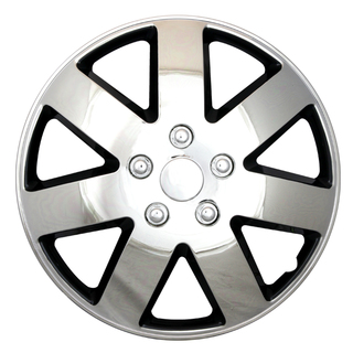 16 inch Universal Chrome and Black Lacquer Wheel Cover Set of 4