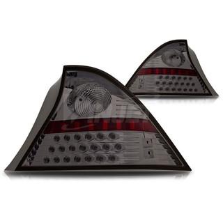 2001-2003 Honda Civic 2Dr LED Tail Light - Chrome/Smoke