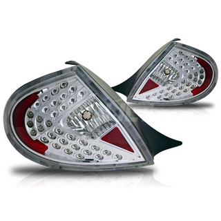 2000-2002 Dodge Neon LED Tail Light - Chrome/Clear