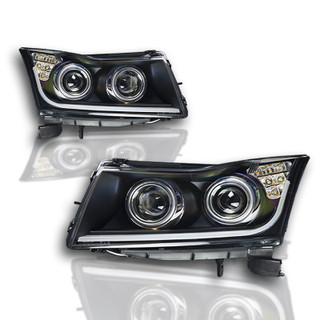 2011-2016 Chevy Cruze Projector Head Lights - (Black / Clear)