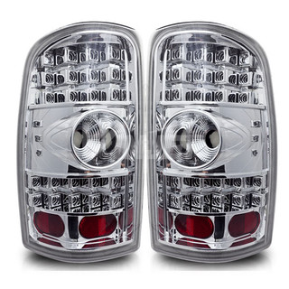 2000-2006 GMC Yukon LED Tail Light - Chrome/Clear