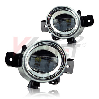 2004-2015 Nissan Sentra Aftermarket Replacement LED Fog Lights - Clear  (Will not fit SE-R)