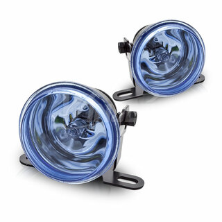 "2"" Round Universal Metal Driving Lights - Blue"
