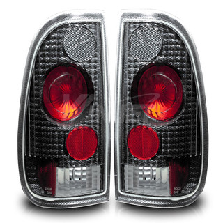 1997-1999 Ford F-250 StyleSide Altezza Tail Light - Carbon Fiber/Clear