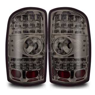 2000-2006 GMC Yukon LED Tail Light - Chrome/Smoke