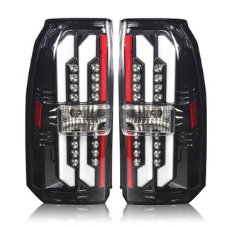 2015-2017 Chevrolet Tahoe LED Tail Lights - (Gloss Black / Clear)