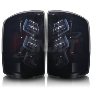 2014-2015 GMC Sierra 1500 LED Tail Light - Black / Smoke