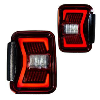 Renegade 2019-2020 Jeep Gladiator JT LED Tail Lights (Black/Red)