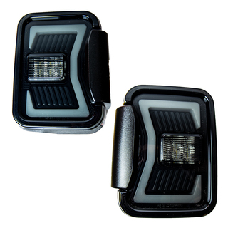 Renegade 2019-2020 Jeep Gladiator JT LED Tail Lights (Black/Smoke)