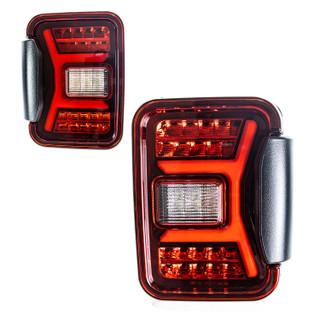 Renegade 2019-2020 Jeep Gladiator JT LED Tail Lights (Black/Red)(0669)