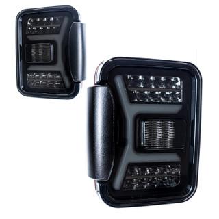 Renegade 2019-2020 Jeep Gladiator JT LED Tail Lights (Black/Smoke)(0669)
