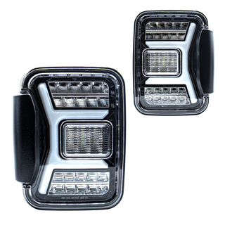Renegade 2019-2020 Jeep Gladiator JT LED Tail Lights (Gloss Black/Clear)(0669)