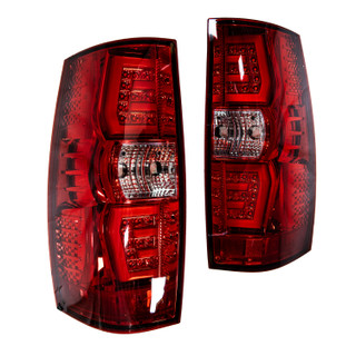Renegade 07-14 Chevy Suburban/ Tahoe LED Sequential Tail Light-(Chrome /Red)