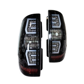 Renegade 07-14 Chevy Suburban/ Tahoe LED Sequential Tail Light-(Gloss Black / Clear)