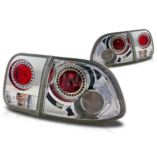 1996-1998 Honda Civic 4Dr Altezza Tail Light -(With LED Ring) - Red/Clear