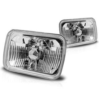 "7"" Rectangular Conversion Head Lights (W/Light Bulb) - Clear"