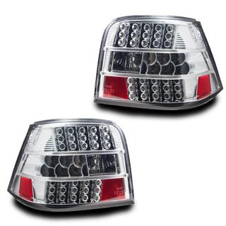 1999-2004 Volkswagen Golf IV LED Tail Light - Chrome/Clear