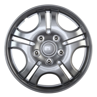 15 inch Universal Silver Lacquer Wheel Cover Set of 4 1
