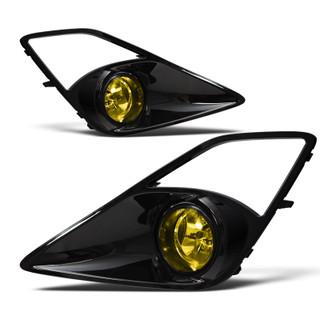 2012-2015 Scion FR-S Fog Lights - Glossy Black / Yellow