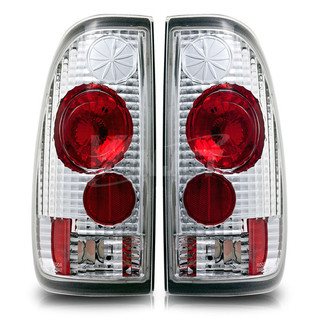 1997-1999 Ford F-250 Styleside Altezza Tail Light - Chrome/Clear