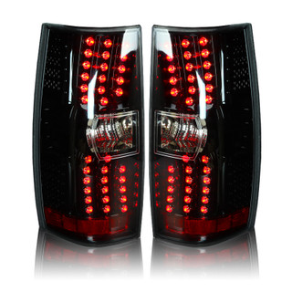 2007-2014 Chevy Tahoe LED Tail Lights - (Gloss Black / Clear)