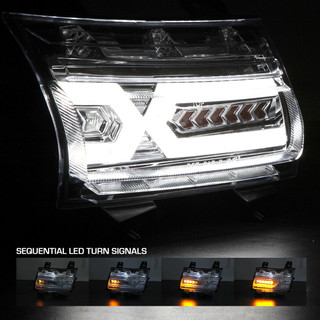 Renegade Series by Winjet - LED Daytime Running Lights with Sequential Turn Signal for 2018+ JEEP Wrangler JL & Jeep Gladiator