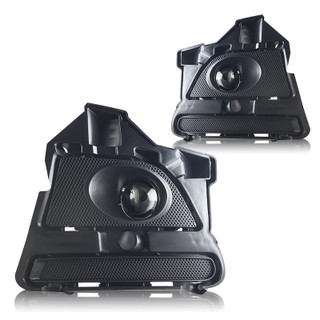 2013-2014 Ford Mustang Replacement Fog Lights - Clear - (Wiring Kit Included)