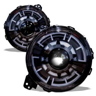 {Renegade Series} 2018+ Jeep Wrangler JL / 2020 Jeep JT LED Headlights / LED DRL / set (black / clear)