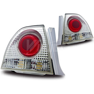 1994-1995 Honda Accord 2/4Dr Altezza Tail Light (With Halo) - Chrome/Clear