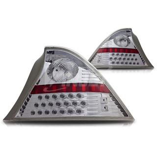 2001-2003 Honda Civic 2Dr LED Tail Light - Chrome/Clear