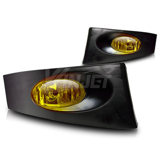 2006-2008 Honda Fit Fog Lights - (Wiring Kit Included) - (Yellow)