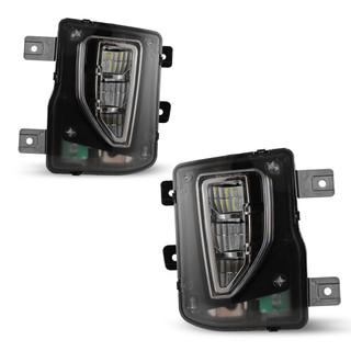 2016-2018 Chevy Silverado LED Fog Lights - Clear (Wiring kit included)