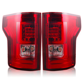 2015-2017 Ford F-150 LED Tail Lights - (Chrome / Red)