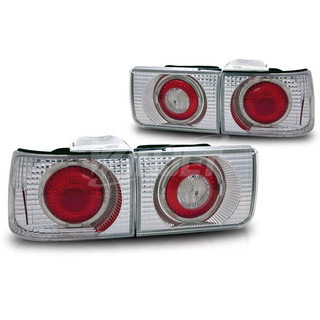 1992-1993 Honda Accord 4Dr Altezza Tail Light (With Halo) - Chrome/Clear